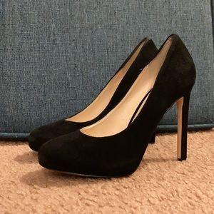 Size 5.5 black Nine West heels, 3 inch heel